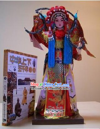Handmade Peking Silk Figurine Doll - Mu Guiying