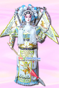 Handmade Peking Silk Figurine Doll - Women Hero Mu Guiying