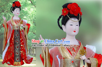 Handmade Peking Silk Figurine Doll - Tang Dynasty Beauty Empress 1