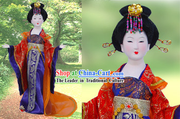 Handmade Peking Silk Figurine Doll - Tang Dynasty Beauty Empress 2