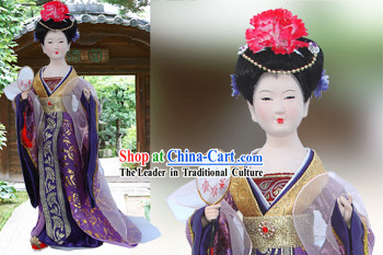 Handmade Peking Silk Figurine Doll - Tang Dynasty Beauty Empress 4