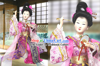 Handmade Peking Silk Figurine Doll - Tang Dynasty Beauty Empress 5
