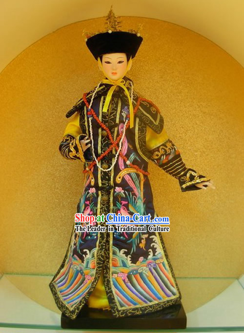 Large Handmade Embroidery Peking Silk Figurine Doll Collection - Ming Dynasty Empress