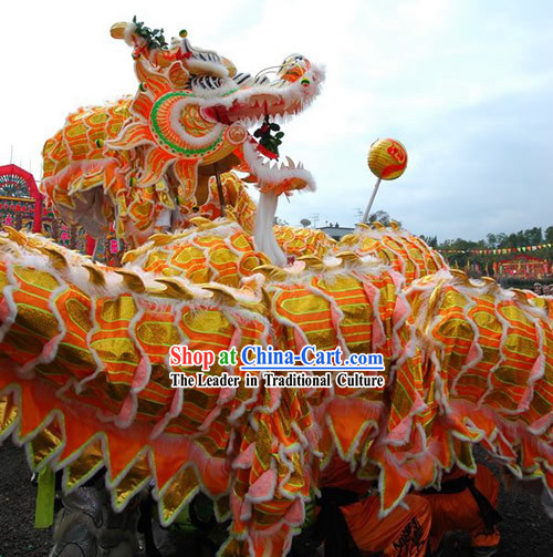 Supreme Best Dragon Dance Costumes Complete Set for Business Opening and Happy Event Celebrations