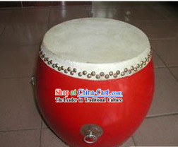 Chinese Traditional 26.6cm Diameter Red Drum
