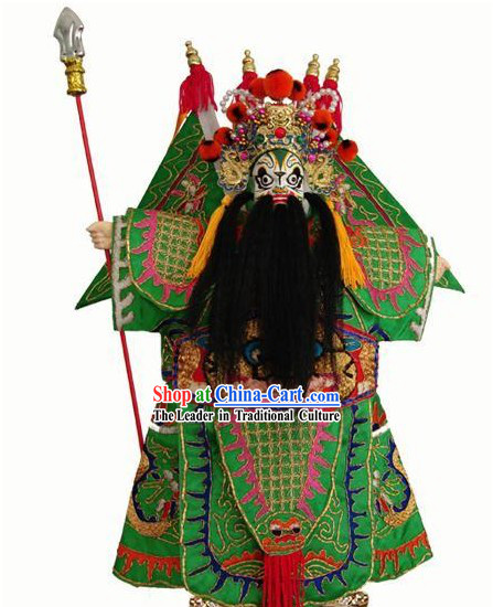 Chinese Classic Original Hand Puppet Handicraft - Green General