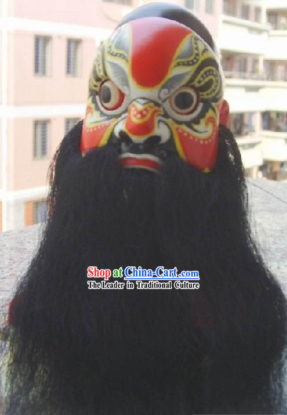 Chinese Classic Original Hand Puppet Head - Red Da Hua