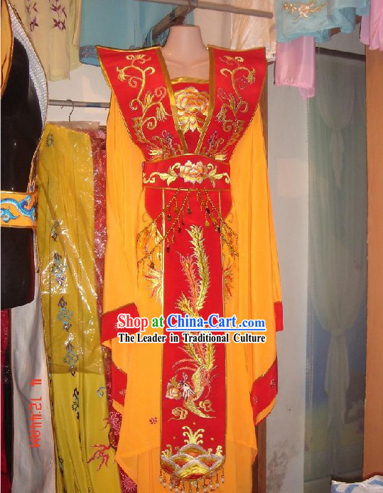 Chinese Ancient Embroidered Phoenix Empress Costumes Complete Set