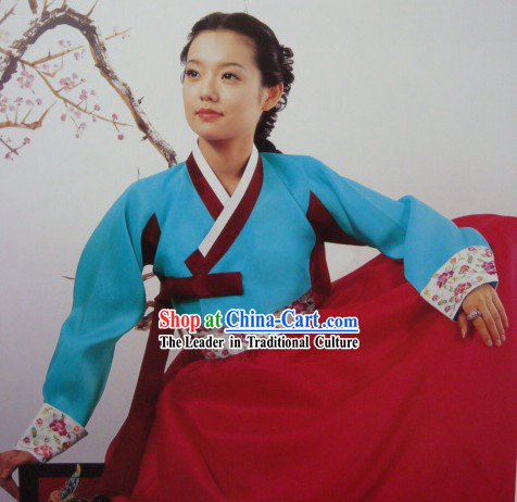 Korean Traditional Huang Zhenyi Dress Hanbok for Women