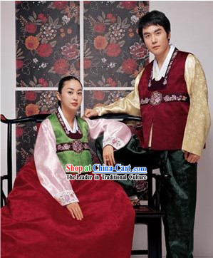 Korean Classic 100_ Handmade Korean Hanbok for Couple-Autumn Lovers
