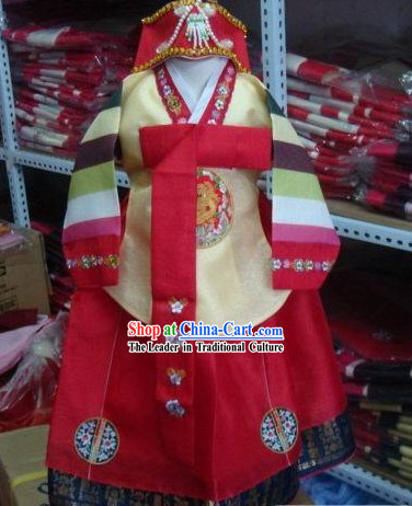 Korean Traditional Handmade Hanbok for Children Girls