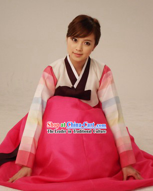 Korean Classic 100_ Handmade Korean Hanbok Tang Dress-Palace Beauty