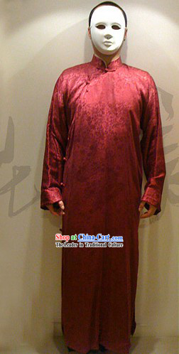 Chinese Ancient Traditional Long Jacket Ma Gua_Aba_ for Man