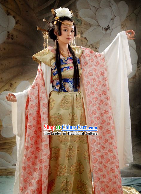 Ancient Tang Dynasty Chinese Princess Dance Costume and Accessories Set