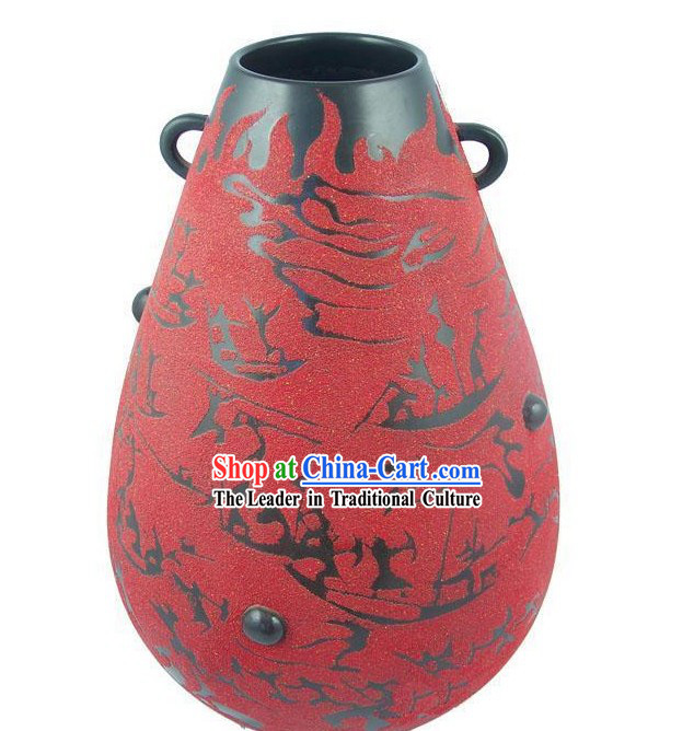 Chinese Traditional Longshan Black Pottery - Fire Burning Chi Bi