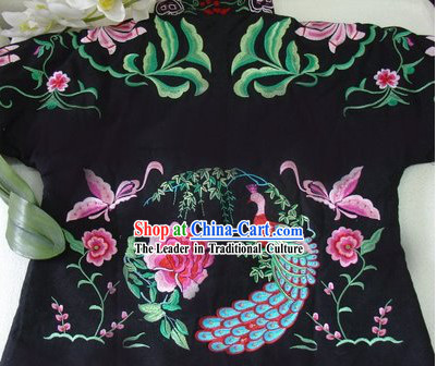 Supreme Chinese Traditional Hands Embroidered Phoenix Warm Cotton Jacket