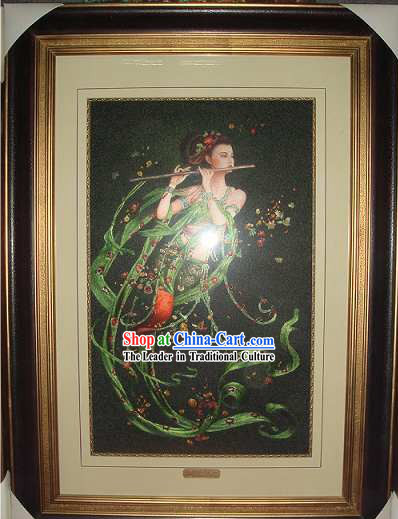 Supreme Chinese All Hand Embroidery Handicraft - Flying Fairy 1