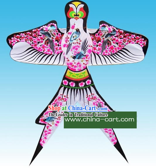 Chinese Classical Hand Painted and Made Swallow Kite - Magpies