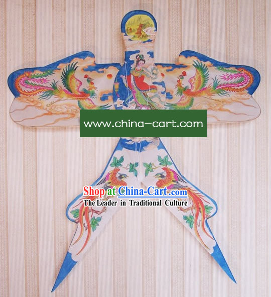 Chinese Classical Hand Painted and Made Swallow Kite - Phoenix