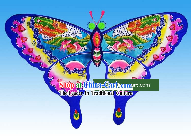 Chinese Traditional Weifang Hand Painted and Made Butterfly Kite - Phoenix