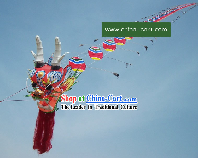 1575 Inches Large Chinese Hand Made and Painted Traditional Dragon Kite