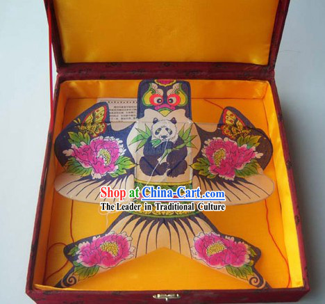 Chinese Traditional Weifang Hand Painted and Made Swallow Kite - Panda