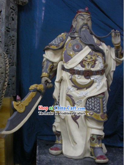 Chinese Classic Shiwan Ceramics Statue Arts Collection - Guan Yu