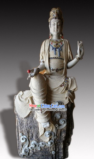 Chinese Classic Shiwan Ceramics Statue Arts Collection - Blessing