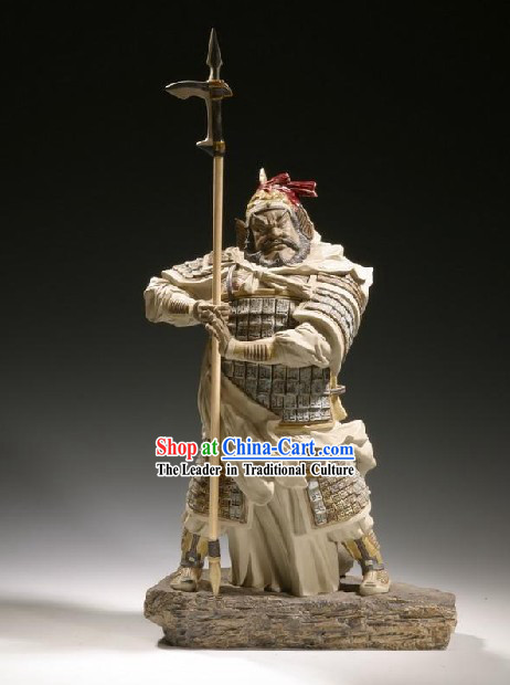 Chinese Classic Shiwan Ceramics Statue Arts Collection - Xiang Yu