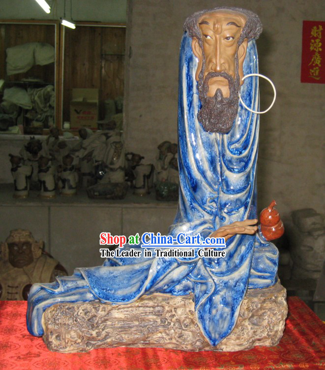 Chinese Classic Shiwan Ceramics Statue Arts Collection - Thinking