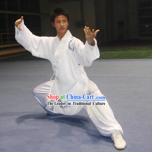 Chinese Traditional Tai Chi Kung Fu Embroidery Cloud Performance Uniform Set for Men