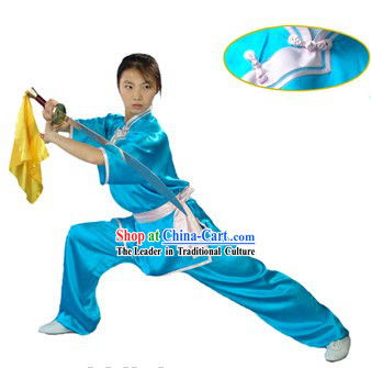 Chinese Traditional Changquan Long Fist 100_ Silk Uniform for Women