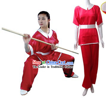 Chinese Traditional Martial Arts 100% Silk Changquan Long Fist Uniform for Women
