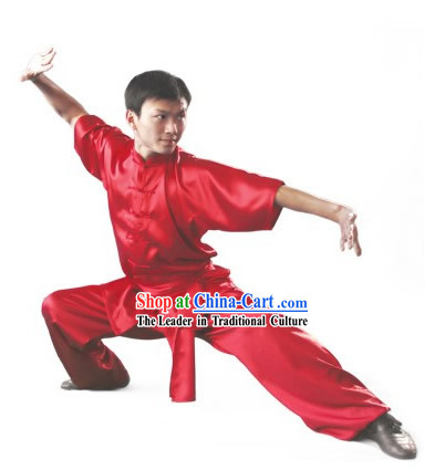 Chinese Traditional Silk and Cotton Long Fist Changquan Uniform for Men