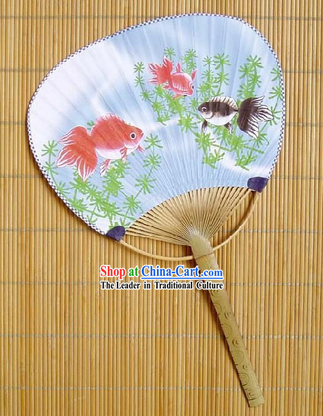 Japanese Traditional Goldfish Circular Fan