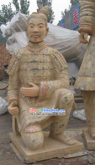Xian Classical Terra Cotta Kneeling Warrior(exactly the same as the antique)