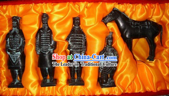 China Terra Cotta Warrior Set_5 Statues_