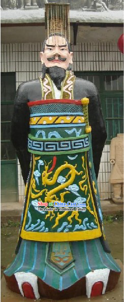 71 Inches Height Large Colored Chinese Xian Terra Cotta Statue