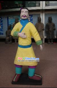 73 Inches Real Size Colored Chinese Terra Cotta Warrior Statue - Standing Archer