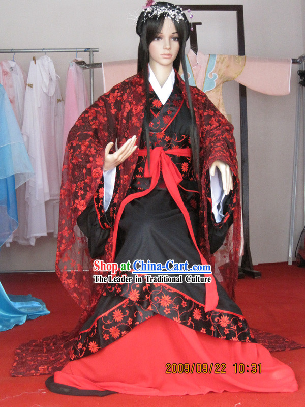 Han Dynasty Ancient Chinese Clothing Complete Set for Women