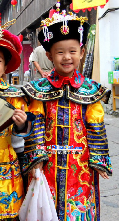 Ancient Empress Costumes and Crown for Children
