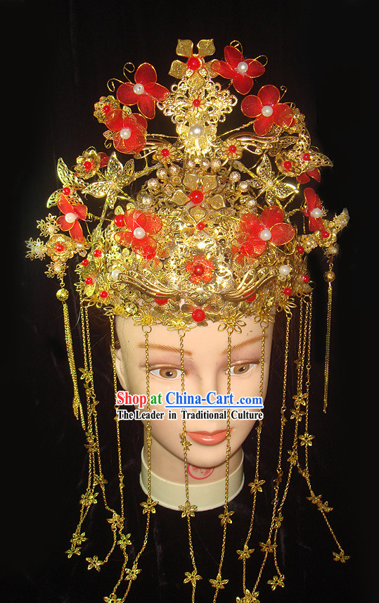 Chinese Classical Empress Festival Celebration Hair Decoration Complete Set