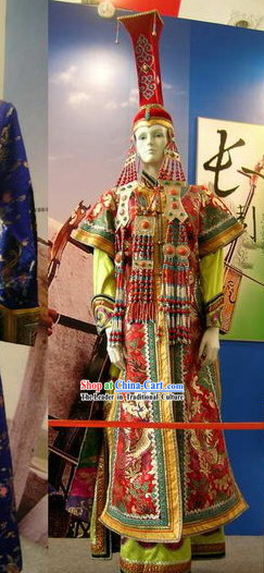 Mongolian Classic Lucky Red Costume for Women