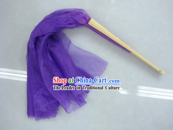 Chinese Traditional Purple Silk Dance Fan