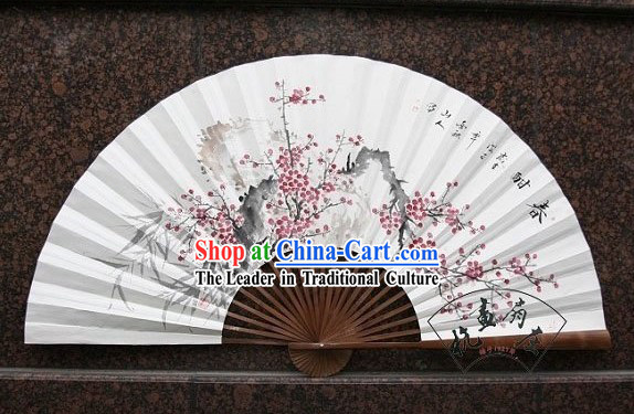 Chinese Hand Painted Large Handing Wall Fan