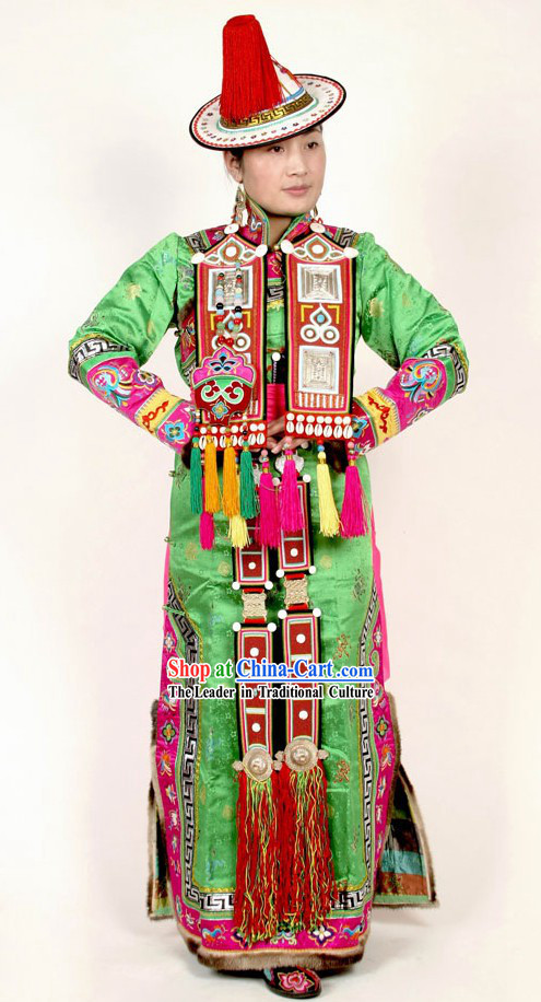 Chinese Traditional Tibetan Clothing Complete Set