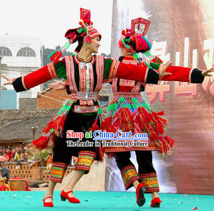 Chinese Traditional Hua Yao Dai Minority Dance Costumes Complete Set for Women