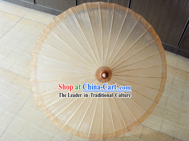 Chinese Hand Made Ancient Plain Colour Paper Umbrella