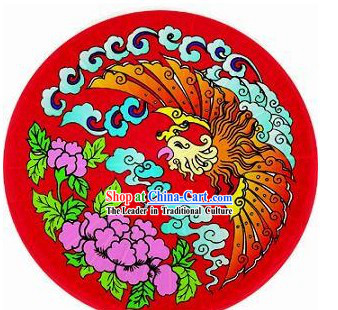 Chinese Traditional Hand Made Red Phoenix Umbrella