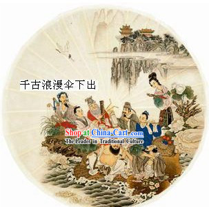 Chinese Traditional Hand Made Eight Fairies Umbrella